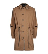 3.1 Phillip Lim Mesh Lined Hooded Parka Male Green