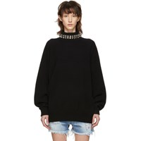 Alexander Wang Black Studded Turtleneck Pullover