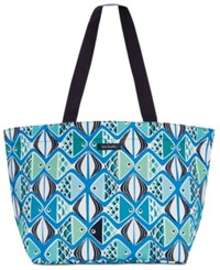 Vera Bradley Drawstring Family Beach Tote Go Fish Teal