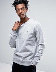 Allsaints All Saints Sweatshirt With Chest Branding Grey Marl