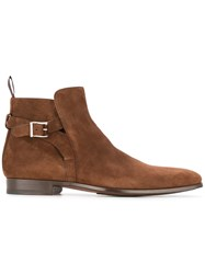 Magnanni Side Buckle Boots Brown