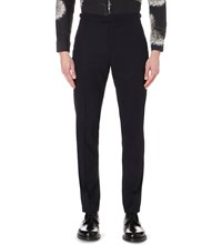 Reiss Matsuda Slim Fit Tapered Wool Trousers Navy
