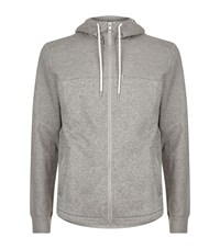 Boss Orange Waffle Knit Sports Hoodie Male Grey