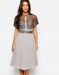 Moyna Sequined Cape Grey