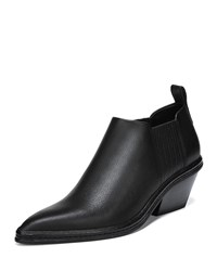 Via Spiga Farly Water Resistant Block Heel Booties Black
