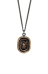 Pyrrha 'Follow Your Dreams' Talisman Pendant Necklace Bronze