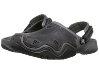 Crocs Swiftwater Leather Camp Clog Graphite Black Men's Shoes Gray