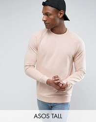 Asos Tall Sweatshirt In Pink Vanilla Float