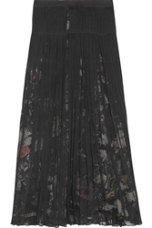 Mcq By Alexander Mcqueen Pleated Silk Chiffon Midi Skirt