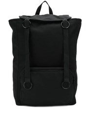 Raf Simons Foldover Top Backpack Black