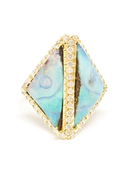 Kimberly Mcdonald Opal And Diamond Boulder Ring Blue