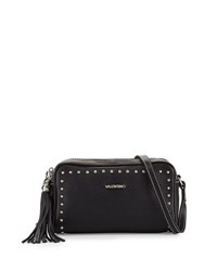 Valentino By Mario Valentino Mila Studded Leather Tassel Crossbody Bag Black