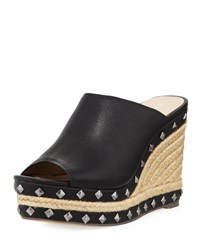 Charles By Charles David Lisbon Studded Espadrille Wedge Mule Black Pattern