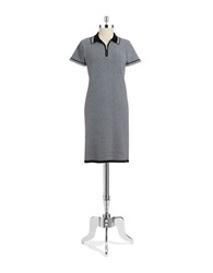Jones New York Knit Polo Dress Grey