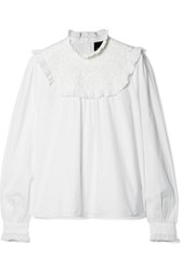 Needle And Thread Broderie Anglaise Cotton Poplin Blouse White