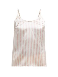 Morgan Lane Mackenzie Striped Silk Cami Top Pink Stripe