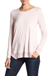 Sweet Romeo Long Sleeve Thermal Tee Pink