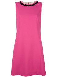 Dolce And Gabbana Shift Dress Pink Purple