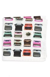 Men's Eton Typewriter Print Silk Pocket Square