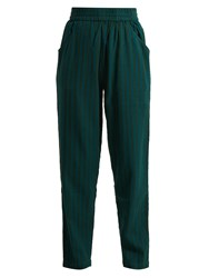 Ace And Jig Gatsby Cotton Trousers Emerald