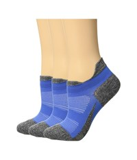 Feetures Elite Ultra Light 3 Pair Pack Blue No Show Socks Shoes