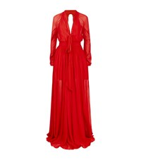 La Mania Monne Peasant Dress Female Red