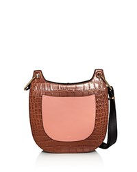 Jason Wu Color Block Leather Saddle Bag Tivola Brown Petal Pink Gold