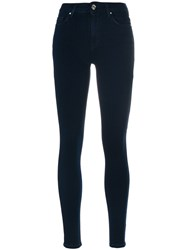 Iro Fitted Skinny Jeans Cotton Polyester Spandex Elastane Modal Blue