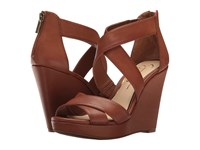 Jessica Simpson Jadyn Burnt Umber Veg Vachetta Women's Wedge Shoes Brown