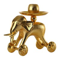 Pols Potten Wheelie Animal Candle Holder Gold Elephant