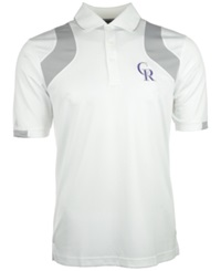 Antigua Men's Colorado Rockies Fusion Polo White Silver