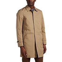 Sealup Cotton Blend Gabardine Raincoat Beige Tan