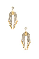 Elizabeth Cole Pixie Earrings Metallic Gold