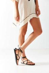 Urban Outfitters Leather Gladiator Sandal Black