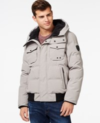 Guess Hooded Snorkel Jacket Charcoal