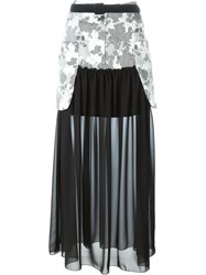 I'm Isola Marras Panelled Sheer Maxi Skirt Black