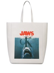 Calvin Klein 205W39nyc Jaws Print Tote Bag White