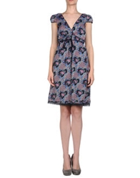 D.E.P.T Dept Short Dresses Dark Blue