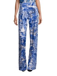 Versace Printed Wide Leg Pants Midnight Multi