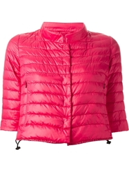 Duvetica Cropped Padded Jacket Pink And Purple