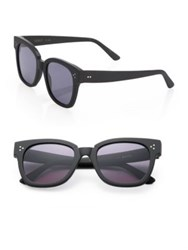 Kyme Ricky 50Mm Squared Rectangle Sunglasses Black