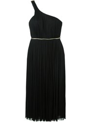 Maria Lucia Hohan One Shoulder Pleated Dress Black