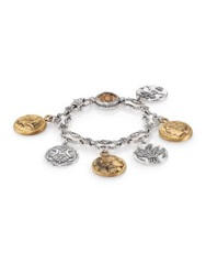 Konstantino Kerma Bronze And Sterling Silver Coin Charm Bracelet Bronze Silver