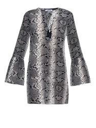 Elizabeth And James Python Print Silk Crepe Dress