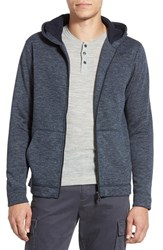 Men's Vince Trim Fit Full Zip Fleece Hoodie Heather Coastal