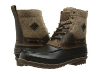 Sperry Decoy Boot Wool Dark Tan Men's Lace Up Boots Brown