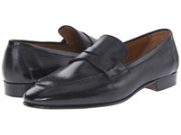 Gravati Rodeo Calf Moc Toe Penny Loafer Black Men's Slip On Shoes