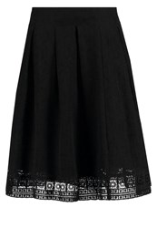 Cream Alessia Aline Skirt Pitch Black