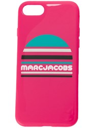Marc Jacobs Logo Print Iphone 8 Case Pink