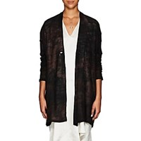 Pas De Calais Tie Dyed Wool Long Cardigan Gray